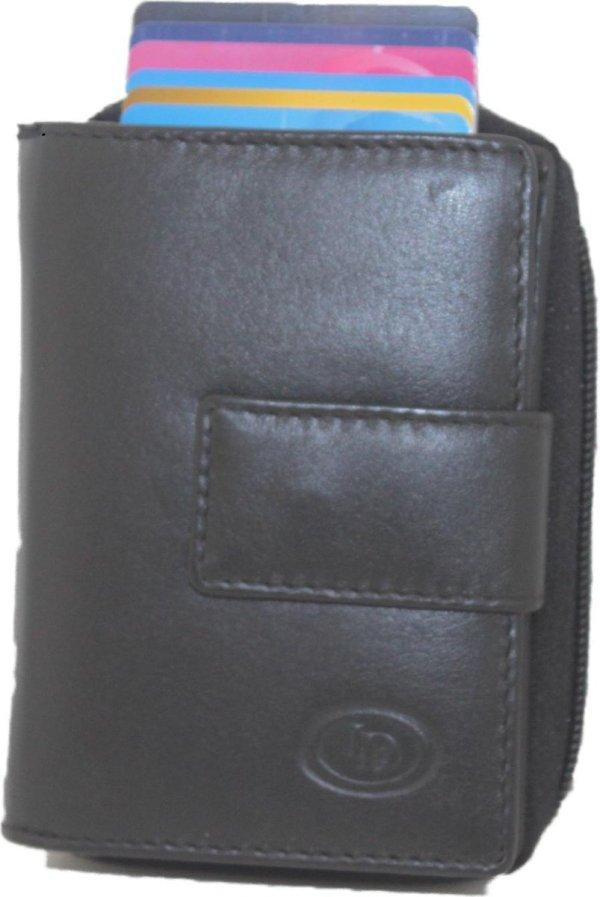 Dames portemonnee met card protector rfid zwart