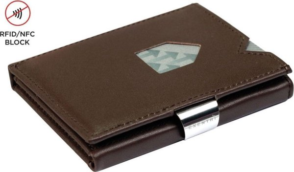 Exentri Leather Wallet Brown