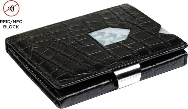 Exentri Leather Wallet Caiman black