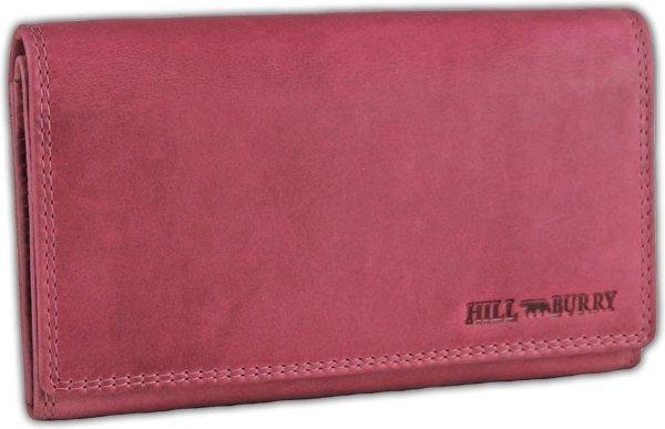 Hillburry VL77709 Leren Dames Portemonnee - Overslag Model - Licht roze