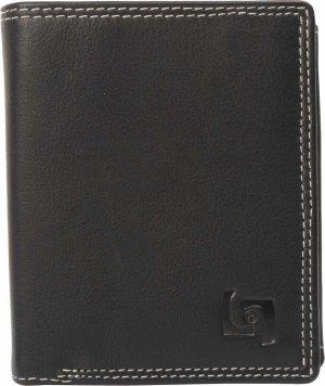Leer Mini Portemonnee met RFID-bescherming   Rundnappaleer RFID-Protector   Mini Wallet   Creditcardvakken, Steekvak, Ritsvak en Muntvak   Zwart