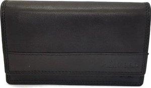 Nuba - Dames portemonnee - Harmonica model - veel plek voor foto's - 100% Leer - Zwart