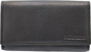 Nuba Leather - Dames portemonnee - 100% Leer - veel Foto's - veel Pasjes - Dames cadeau - grote portemonnee - Zwart