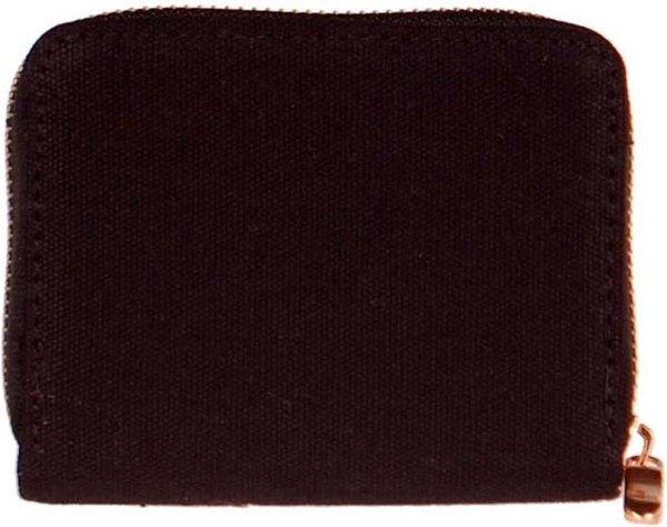 Portemonnee stof zwart-