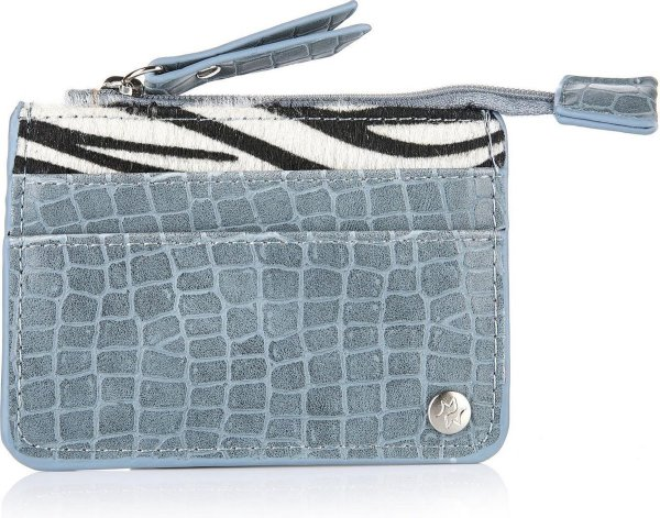 Portemonnee zebraprint - Blauw