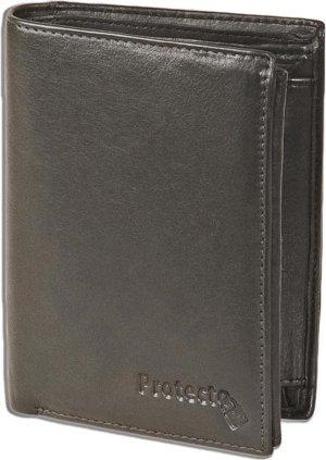 Protecto RFID Billfold Portemonnee Hoog Model - Anti skim - Leer - Zwart