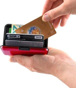 RFID Anti-Skim Aluminium Creditcardhouder - Kaarthouder - Card Protector - Pasjeshouder - Rood