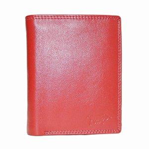 Rode Euro Portemonnee Leer - Compact Leren Portemonnee Rood