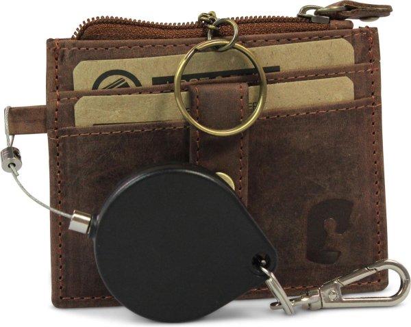 Safekeepers Sleuteletui en pasjeshouder met Rolketting