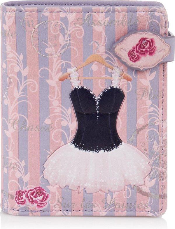 Shagwear Portemonnee - Compact Beugelportemonnee - Dames - Kunstleer - Ballerina (009727sm)