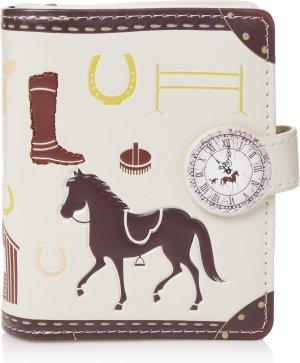 Shagwear Portemonnee - Compact Beugelportemonnee - Dames - Kunstleer - Unbridled Horses (0476sm)