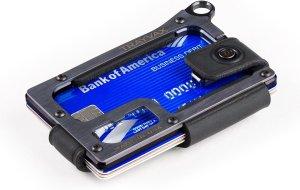 Trayvax Contour - Black Stealth Black - RFID - Kaarthouder - Pasjeshouder heren - Portemonnee - Leer metaal