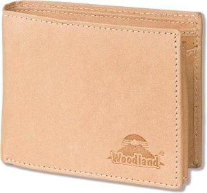 Woodland - Heren Portemonnee Leer Billfold - RFID anti skim - Crème