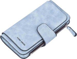ZILOU® Vintage Dames Ritsportemonnee - Clutch Wallet - Kunstleer - Blauw