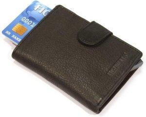 Figuretta cardprotector, pasjeshouder in leer - Zwart