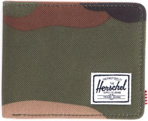 Herschel Supply Co. Hank Portemonnee - RFID - Woodland Camo / Tan Synthetic Leather