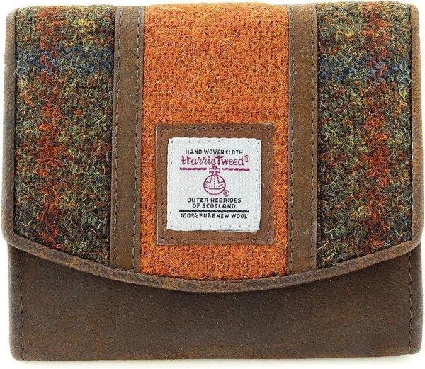 The British Bags Company Ladies Twinned Orange/ Brown dames portemonnee klein
