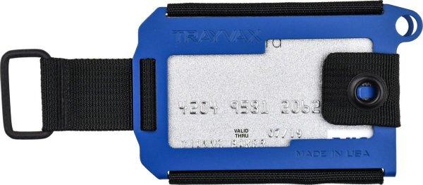 Trayvax Axis Cobalt Ceracote, Blue, pasjeshouder, metaal, RFID
