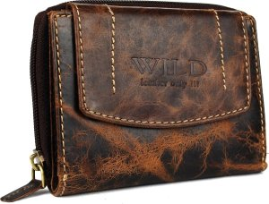 Wild leather only !!! Dames Billfold Bruin