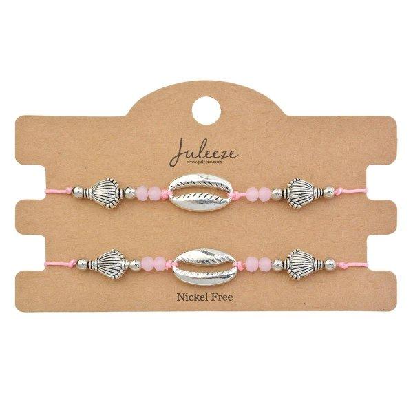 Juleeze Armbanden Dames (set v 2) JZBR0523 - Roze Kunststof ArmbandArmbandjesSieraden Dames