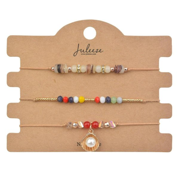 Juleeze Armbanden Dames (set v 3) JZBR0512 (set 3) - Meerkleurig Kunststof ArmbandArmbandjesSieraden Dames