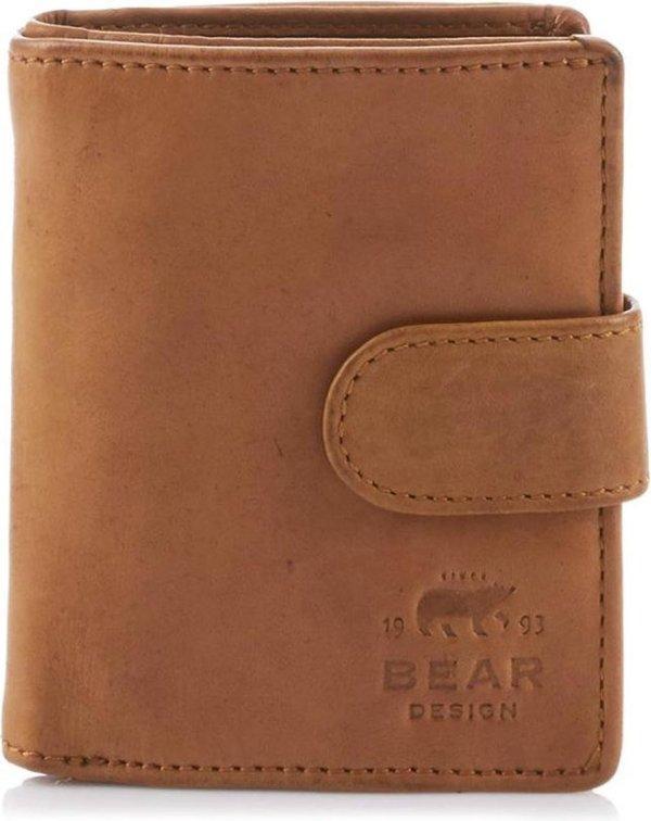 Bear Design Dames portemonnee Cow Lavato Leer - geel
