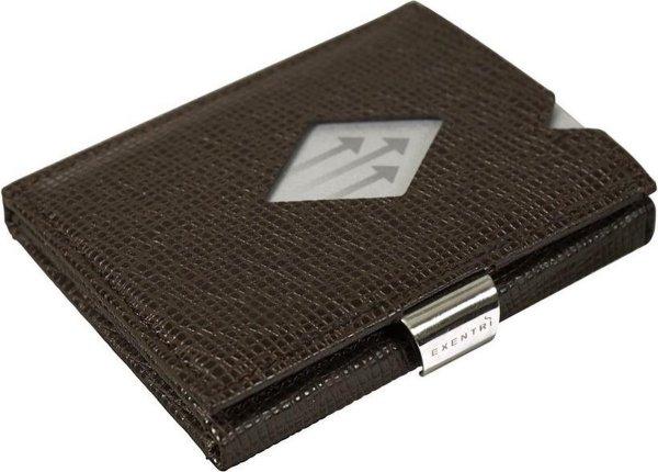 Exentri wallet RFID portemonnee Mosaic bruin Leer