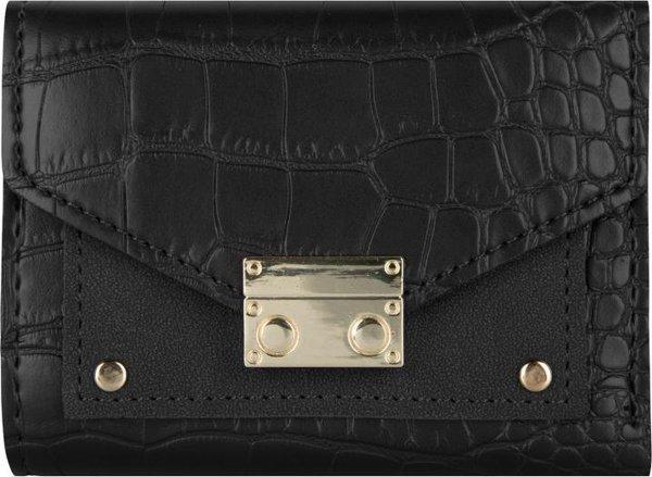 Jozemiek Croco portemonnee klein-zwart