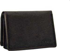 Kleine portemonnee van buffelleer, met kleine geld- zeer compact - RFID - vakantie portemonnee - Mini portemonnee.