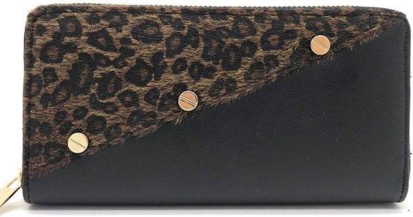 Lillou - Portemonnee Leopard Brown
