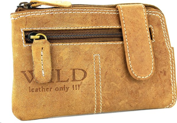 Portemonnee mini Wild Leather Only !!! (RS-5011-13) - lichtbruin -