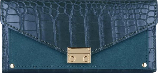 Jozemiek Croco portemonnee groot -Blauw