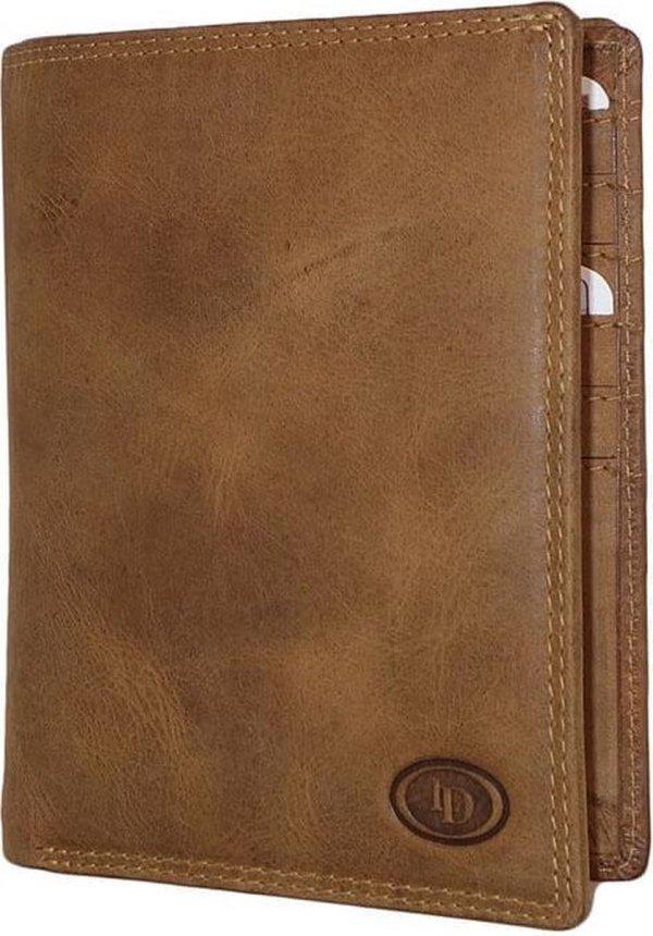 Leather Design Paspoort Portemonnee Hunter Bruin