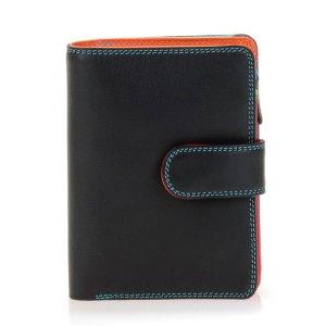 Mywalit Medium Snap Wallet Portemonnee Black/ Pace