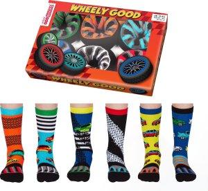 ODD SOCKS Jongens Sokken Wheels Multipack Mismatched 30-39 Cadeaudoos