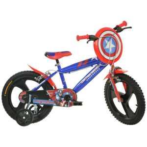 416UL-CA Captain America 16 Inch 27 cm Jongens Knijprem Blauw