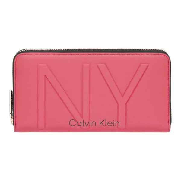 Calvin Klein - Ny Shape Ziparound Lg - Portemonnee Dames - Coral