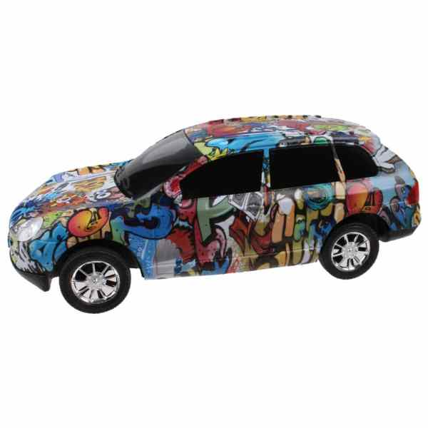 Jonotoys auto Speed King Graffiti jongens frictie 25 cm