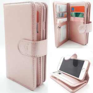 Samsung J4 Plus - Rose Gold - Pasjeshouder - Telefoonhoesje met extra