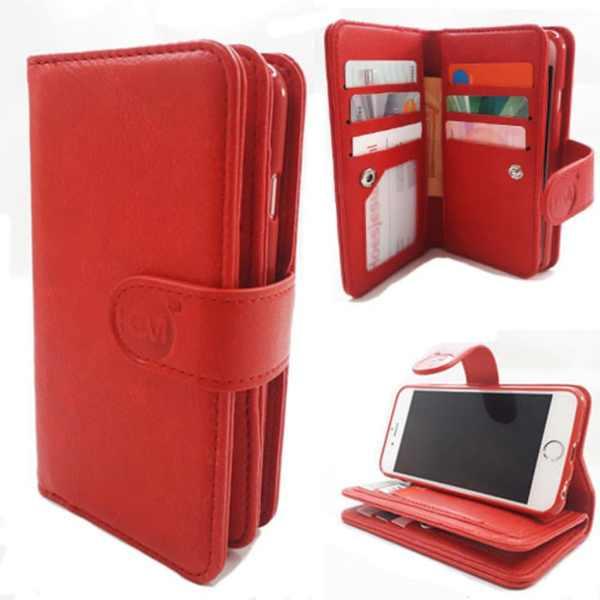 Samsung J6 Plus SM-J610 - Burned Red - Pasjeshouder - Telefoonhoesje