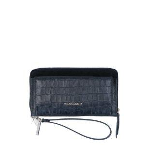 LouLou Essentiels SLB Classy Croc RFID Wallet Black