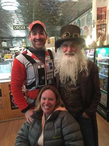 Jay & Courtney with Leadville's Father Time