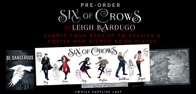 Six Of Crows Poster And Signed Book Plate Porter Square Books