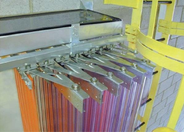 rideaux lames accordeon portes olympique