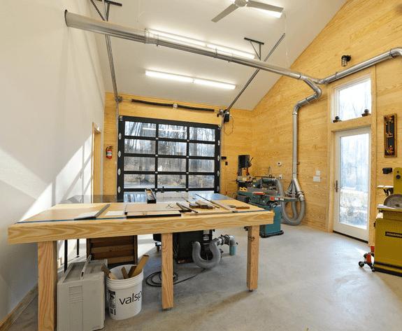 garage en atelier de bricolage fonctionnel