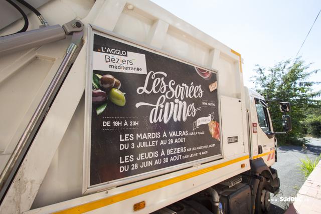 Affiches camions bennes de l'Agglo Béziers Méditerranée par SUDETIC