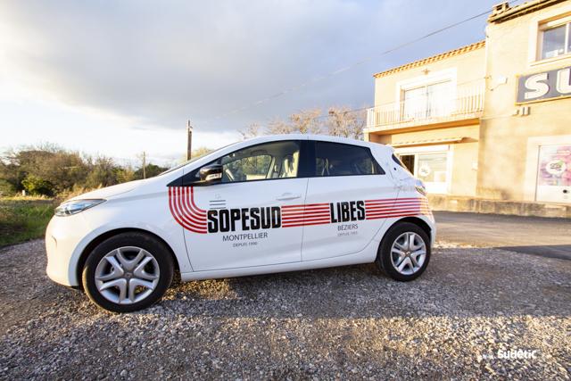 Décoration Renault Zoe Sopesud Libes par SUDETIC