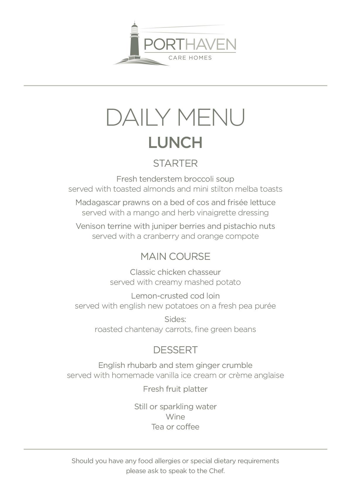 See Restaurant Lunch Menu