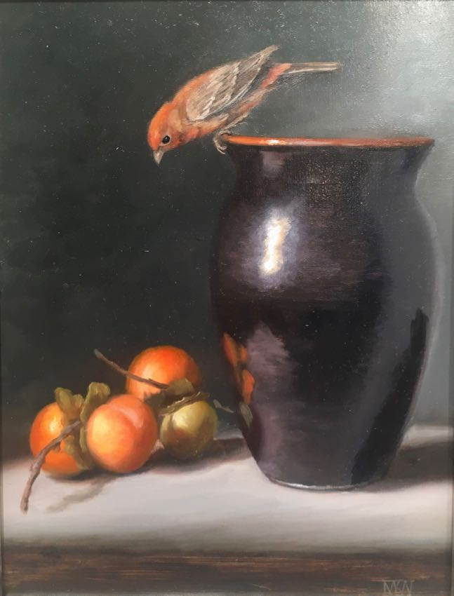 Finch and Persimmons