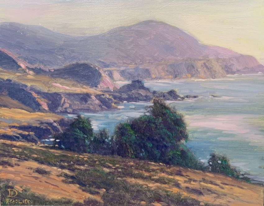 Big Sur Coast Dirk Foslien 8x10 oil